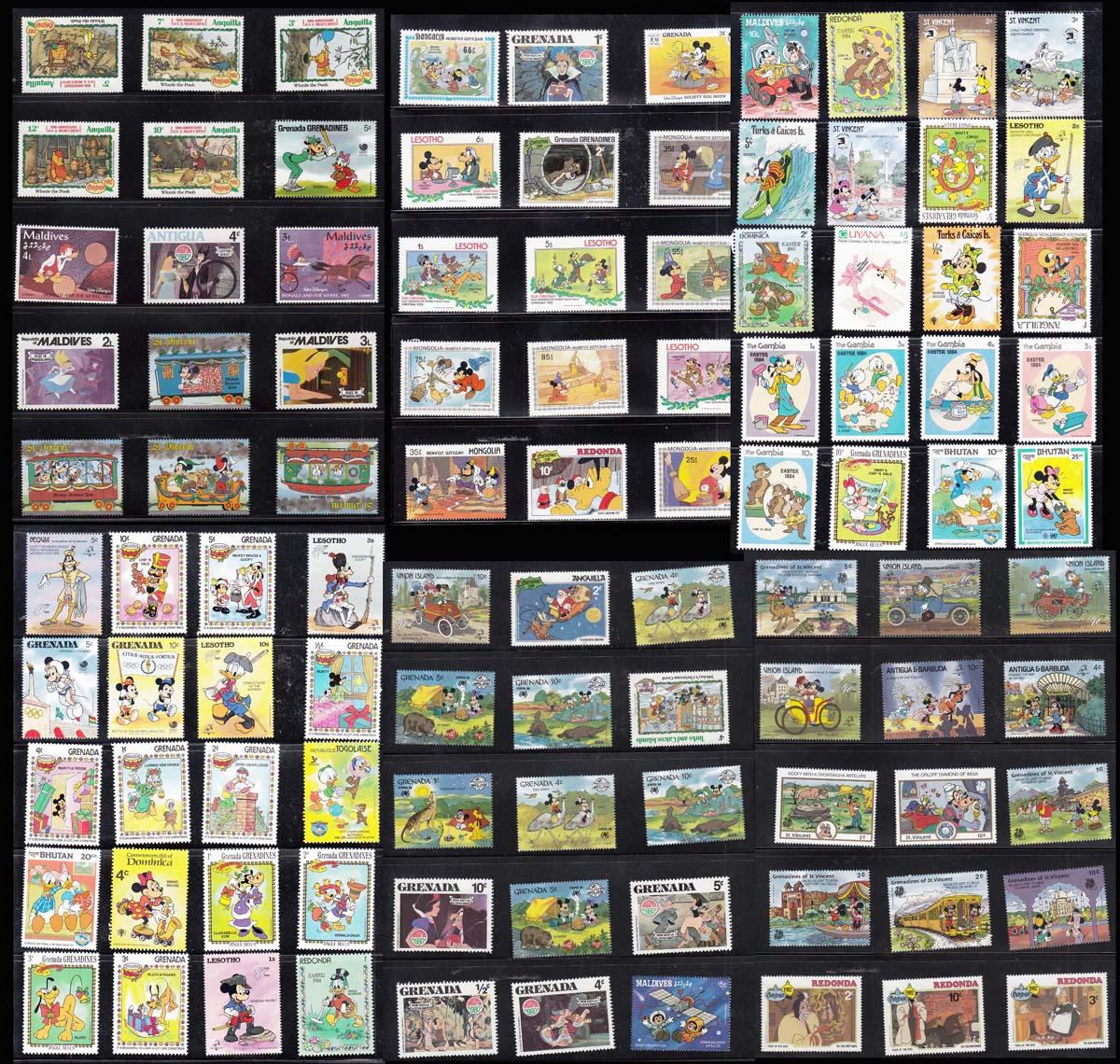 Иностранные штампы 50 мультфильма Disney не повторяются полностью новый бесплатная доставка по китаю Купить 8 порций предлагают 400 различных