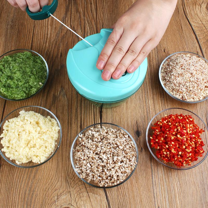 家用手动绞肉绞菜机切菜器绞蒜神器厨房搅菜捣压蒜泥器碎大蒜工具
