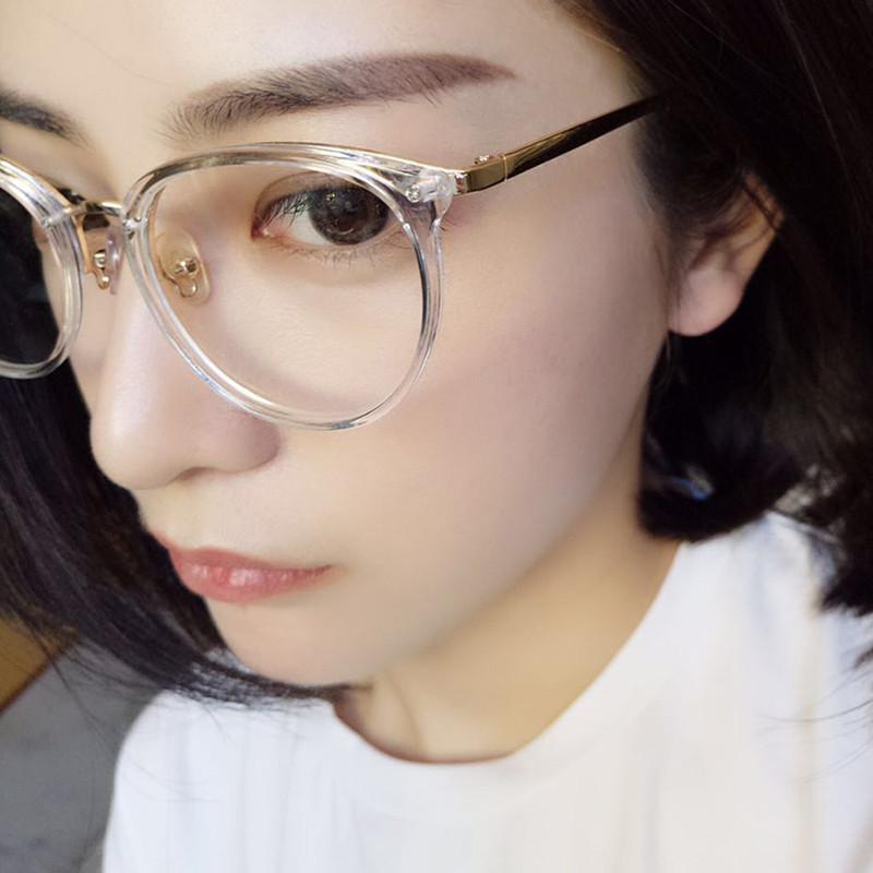 2016韓國圓框平光眼鏡女圓臉透明眼鏡框潮人款複古文藝眼鏡架近視