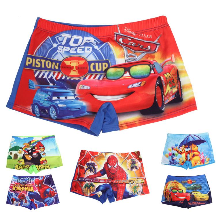 к 2015 году новых детей купальный костюм Супермена, Томас странный цвет Белл Spider-man Сердитые птицы Мальчики Купальники