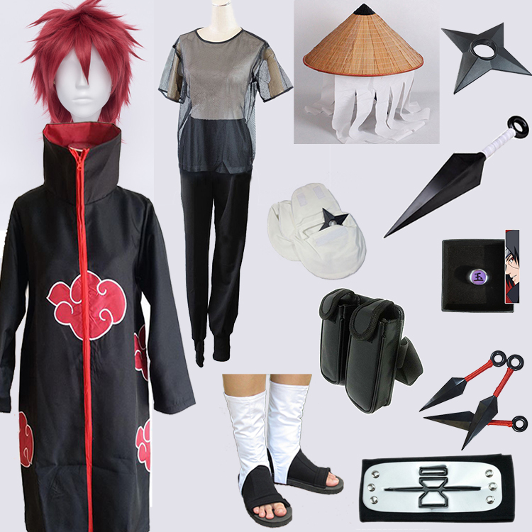 Package 16 pieces of Naruto red sand scorpion cos clothing