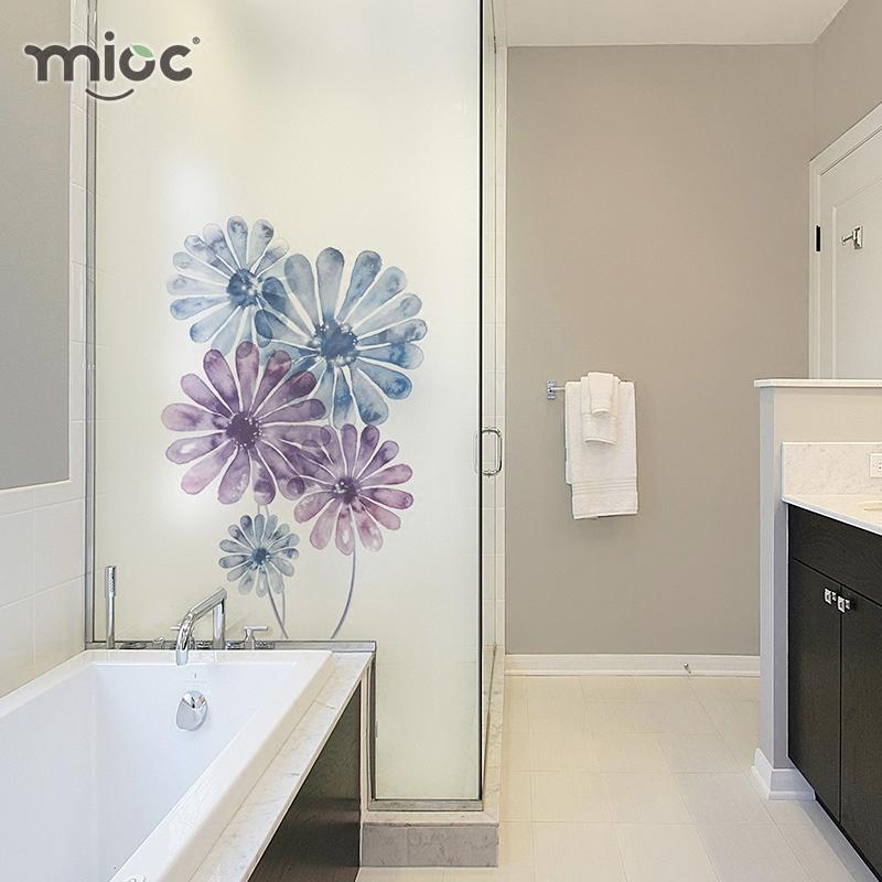 静电磨砂玻璃贴膜卫生间浴室窗户贴纸隔断玻璃纸淋浴门防窥镜子膜