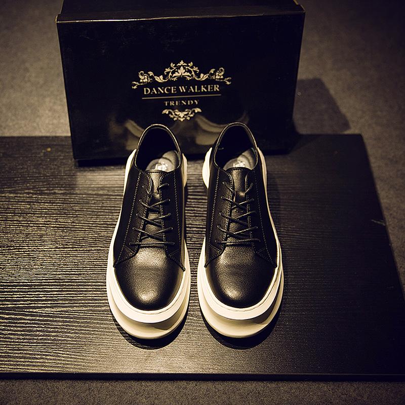 韩版GD潮鞋权志龙同款鞋子休闲松糕鞋英伦学生厚底男增高板鞋男潮