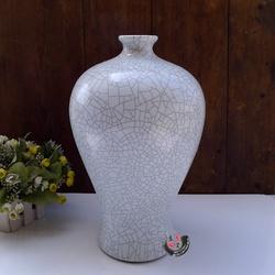 仿古龙泉窑哥窑仿官窑瓷器 高档居家摆设 裂纹釉墨纹白葫芦梅瓶