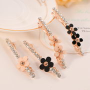 Know Connie hair Korea sweet flower hairpin encrusted Crystal clip Korean card issuers Collet accessories