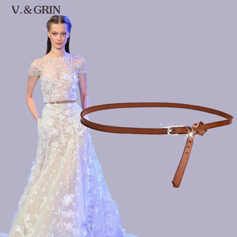 Vgrin тонкой кожи талии пояса цепь пояса женщин дамы украшали корейской версии универсальный юбка завязанный пояс Новинка