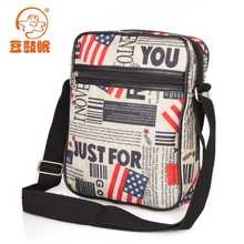 Fashion men's bags leisure personality packets British tide package flags The union flag stars and stripes man inclined shoulder bag