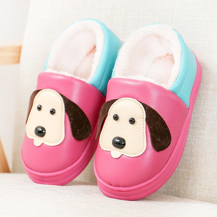 兒童棉拖鞋女包跟男童 加厚底保暖加絨防水防滑居家居寶寶棉鞋