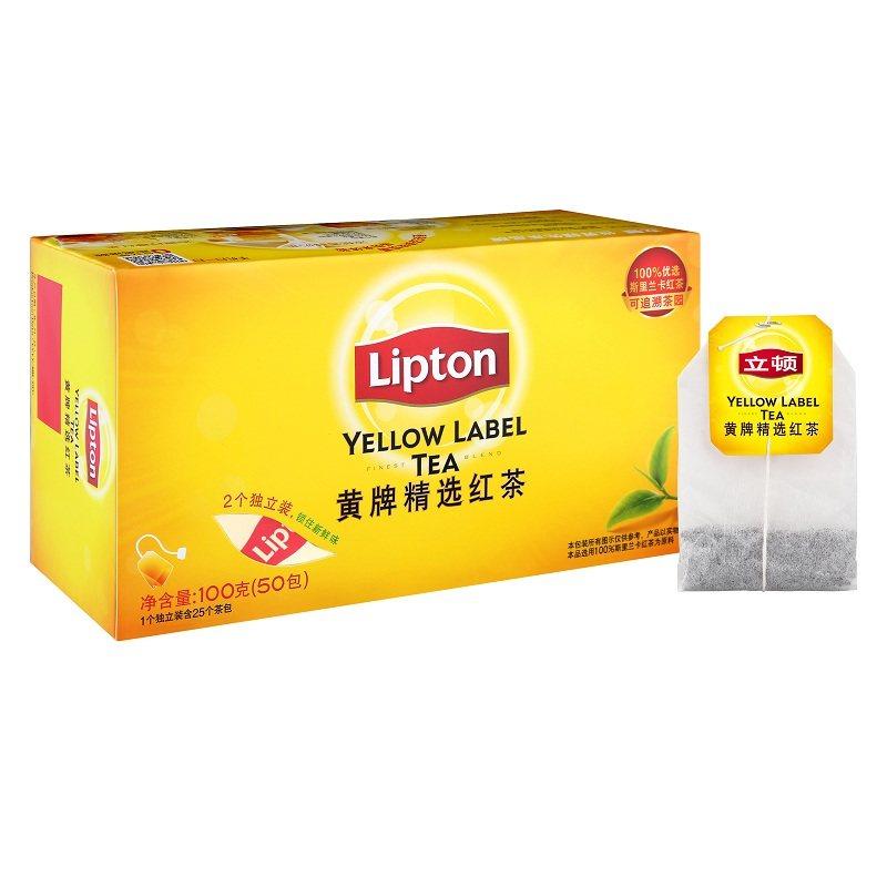 立頓 Lipton 黃牌 紅茶 辦公 茶包 50包 盒