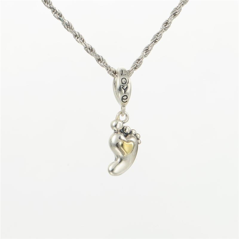 S201 золото любовь кулон серебро 925 стерлингового серебра шарик смеси достаточно на основе цепочки серебряные Амулеты