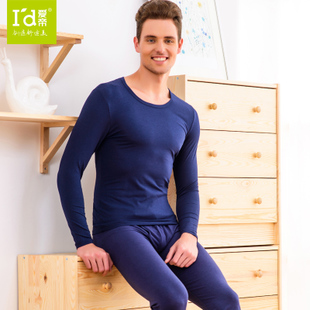 Dili love autumn and winter fashion platinum Jinxinier acrylic regenerative thermal underwear sets men s round neck
