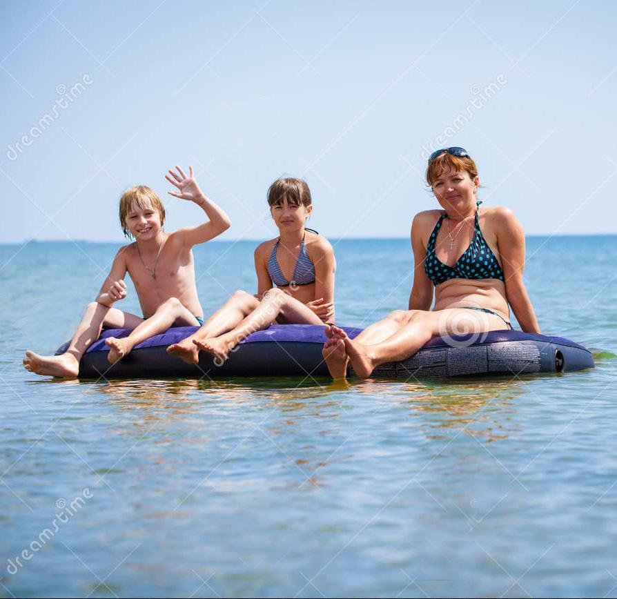 成人加厚充气浮排浮板躺椅水上浮床海滩垫漂流充气床垫
