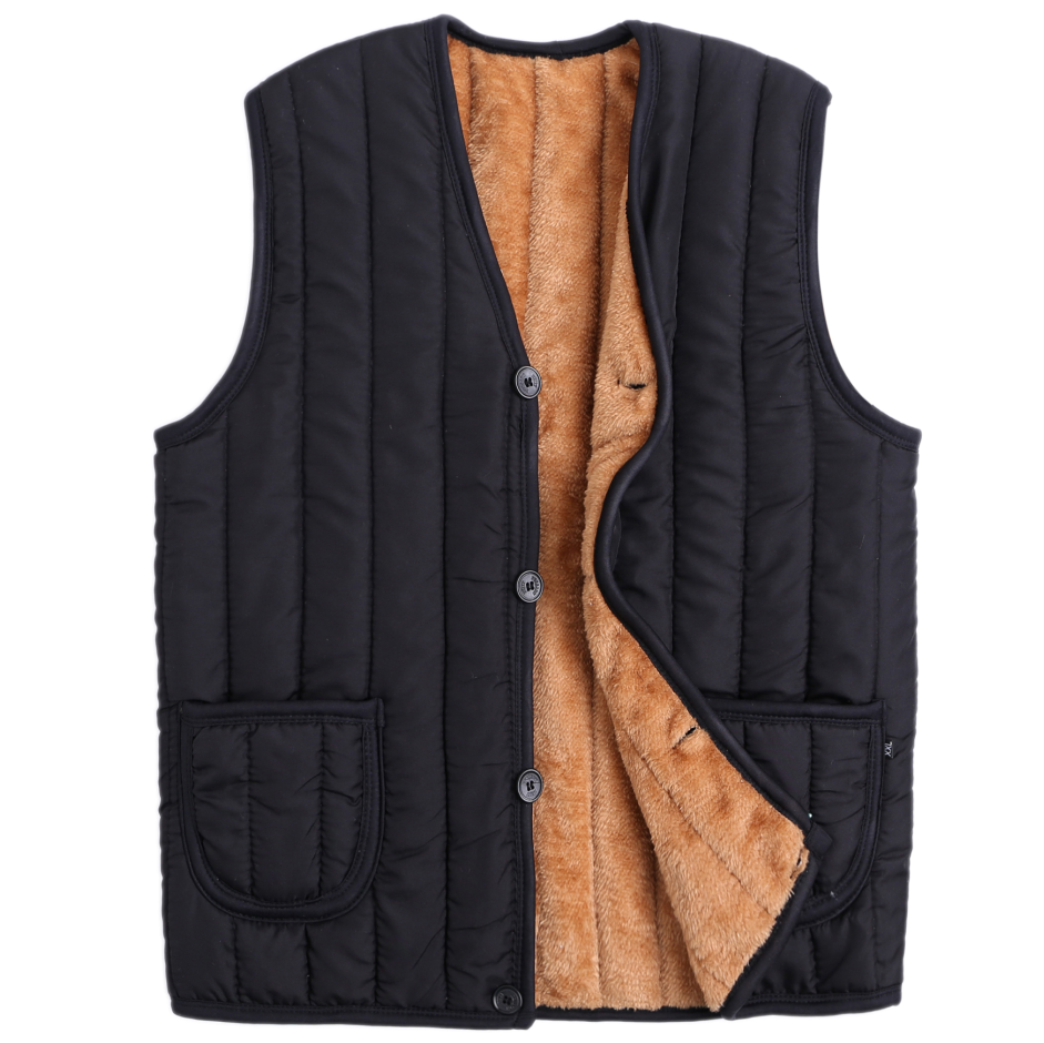 Winter style elderly mens jacket middle aged and elderly waistcoat mens down cotton warm coat vest fathers down thickened shoulder