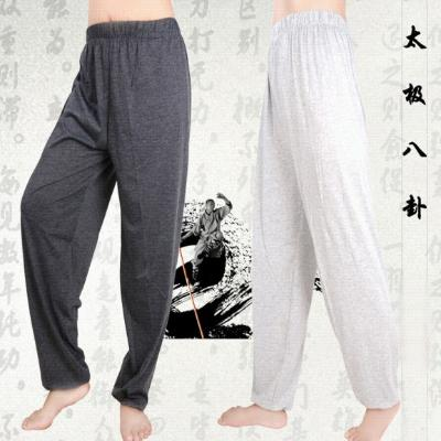 Spring and autumn womens mens silk thin pants pajamas loose middle-aged and elderly walking home pants casual pants summer
