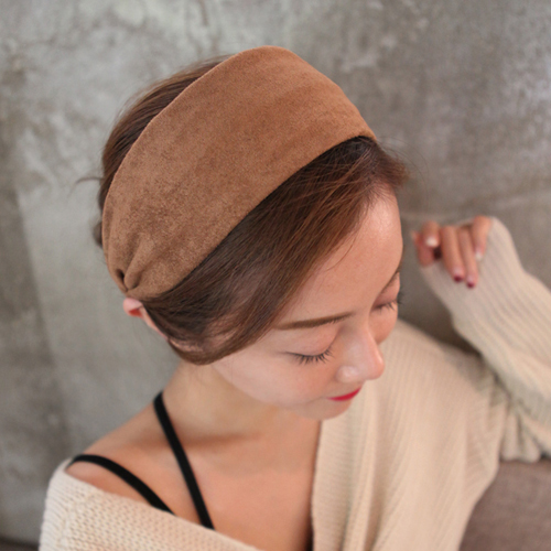Lucias Korea imported hair accessories minimalist trend wide hoop headband hairpin head ornaments fabric temperament cocking