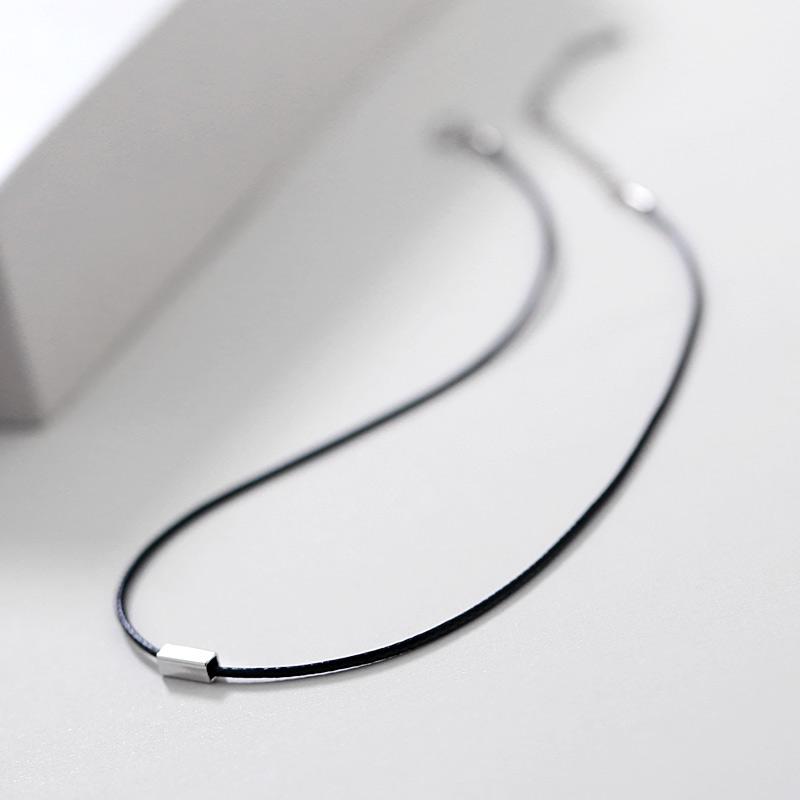 s925銀原宿頸鏈項圈項鏈鎖骨鏈女短款韓國脖子飾品簡約配飾頸帶潮