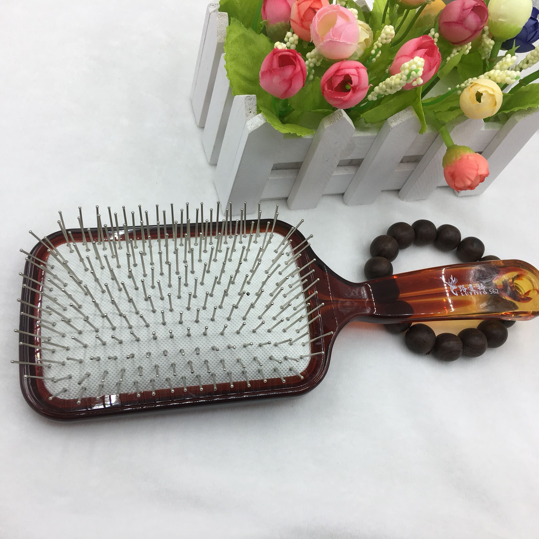 Crystal steel needle air cushion massage comb long hair comb false hair comb massage scalp home comb oil head modeling comb
