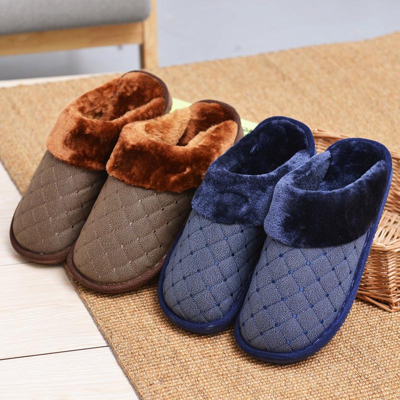 加大碼棉拖鞋男士特大號45 46 47 48厚底防滑保暖家居家冬天
