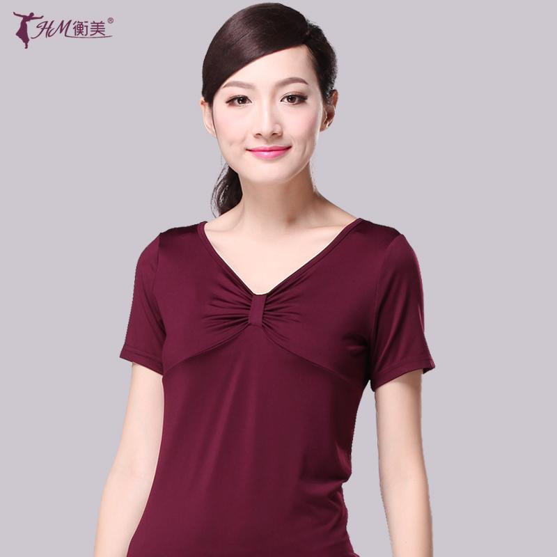 Летняя танцевальная одежда Hengmei Square Dance верх одежда новая коллекция короткий рукав Платья для взрослых