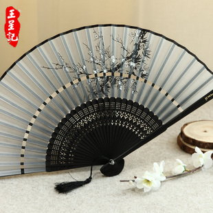 Wangxingji female fans two ancient silk fan folding child style retro Chinese style silk fan gift classical small