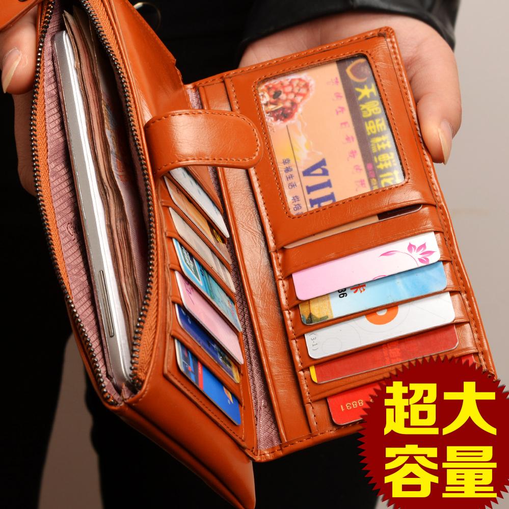 Lanny бумажник большой zip вокруг бумажник тонкой большой емкости молнии корова кожаный бумажник ретро Новая волна в Европе и Америке пряжка сумка