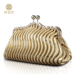 Fat Cobblers clutch bag 2015 new cosmetic bag women's hand bags evening bag night club packet wave shoulder bag-clip package
