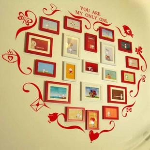 Maple impression marriage room essential heart shaped photo wall wall stickers combination photo frame wall photo wall wedding creative wall hangings Specials