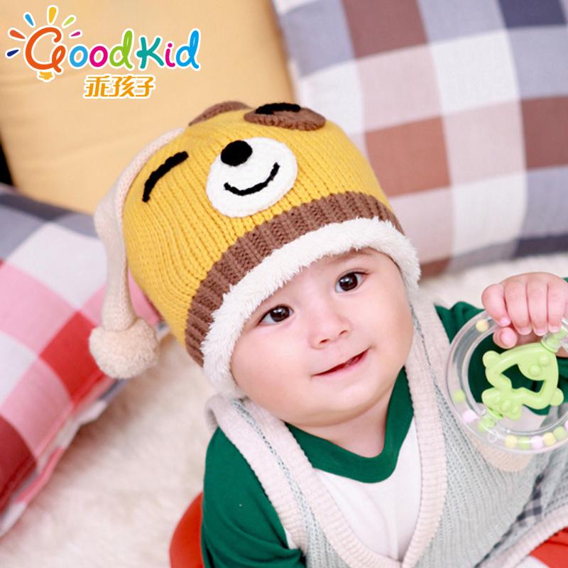 乖孩子 男女宝宝加绒帽子