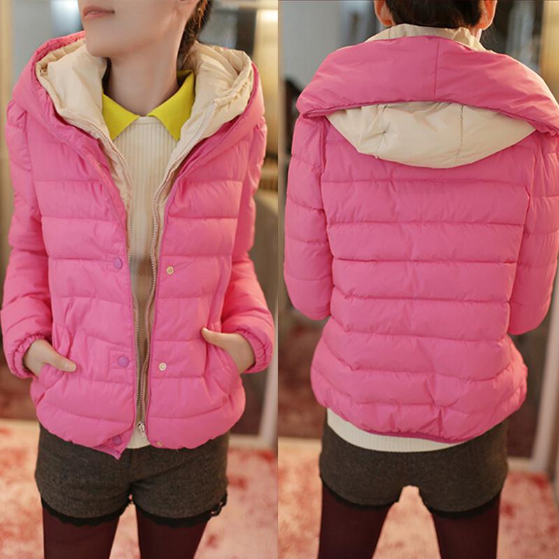 2015 году новый тонкий короткий куртка женщин зимнее пальто мягкий с капюшоном зимы мягкие пальто Корейское издание пуховик