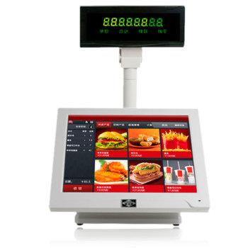 爱宝8100触摸屏POS收款机 收银机 适用于酒店餐饮管理快餐店茶楼