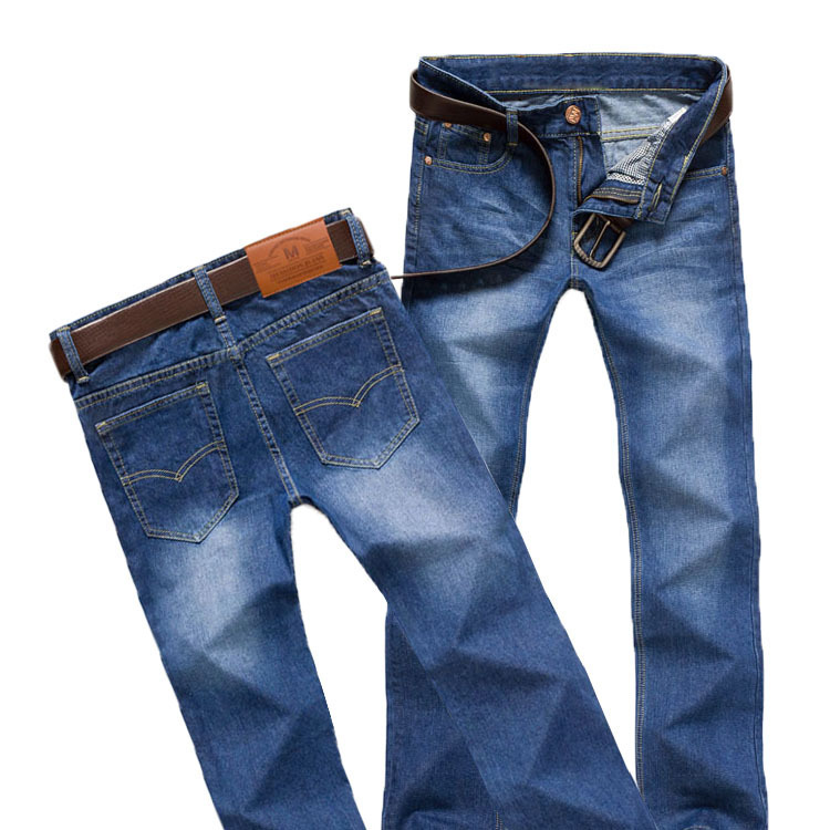 Spring and autumn new mens slim casual pants mens straight jeans pants youth popular Korean fashion