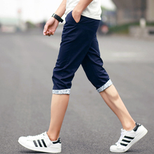 Summer men's casual pants city boy shorts 7 minutes of pants type foot men's clothing of cultivate one's morality pants in the summer of thin section 7 minutes of pants