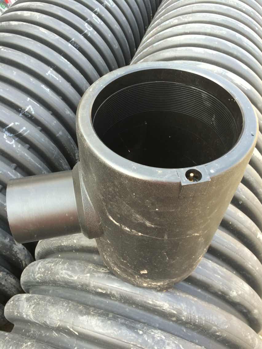 联塑PE给水管配件电熔三通钢丝网骨架PE复合管电熔弯头直通法兰套
