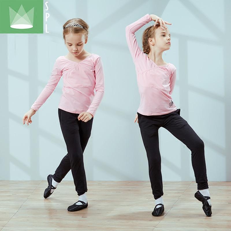 尚品琳春秋儿童舞蹈服装女童季长袖练功服少儿拉丁舞考级分体套装
