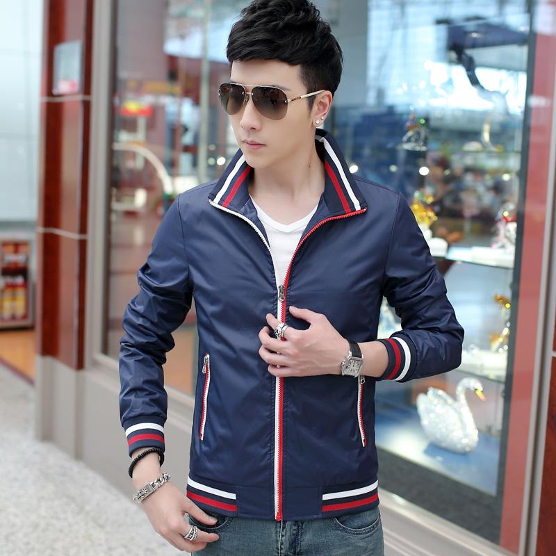 2020 autumn classic mens jacket thin coat zipper placket rib hem fashion authentic simple mens wear