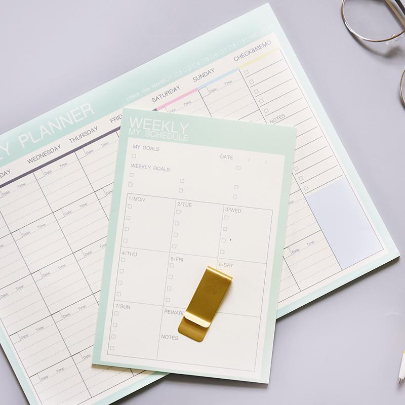 日/周/月/可撕计划便签本小本子时间管理日程记事本三年二班文具Z