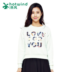 Hot ladies 2015 spring ladies crew neck long sleeve blouse-letter printed casual Turtleneck Sweater 20H5104