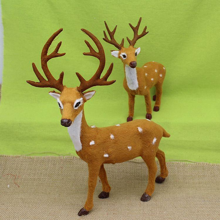 Рождество подарок моделирование пятнистый олень украшение плюш игрушка олененок декоративный кукла рождество декоративный
