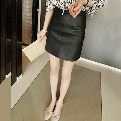 Мешки пост осень/зима новый стиль Кожа юбки женщин юбки высокой талией PU юбки платье Корейский хип юбка плюс размер шаг юбки