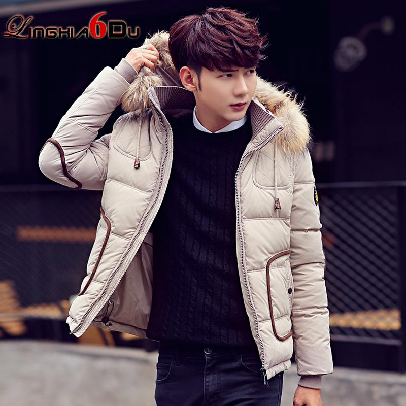 к 2015 году новых молодых корейских мужчин вниз куртка мужчин меньше самоуправления в зимнее пальто мягкий длиной шерсти воротник город мальчик
