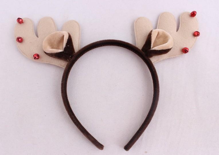 券后27.00元成人儿童男女通用圣诞节头饰头箍铃铛小鹿角麋鹿头箍圣诞派对礼品