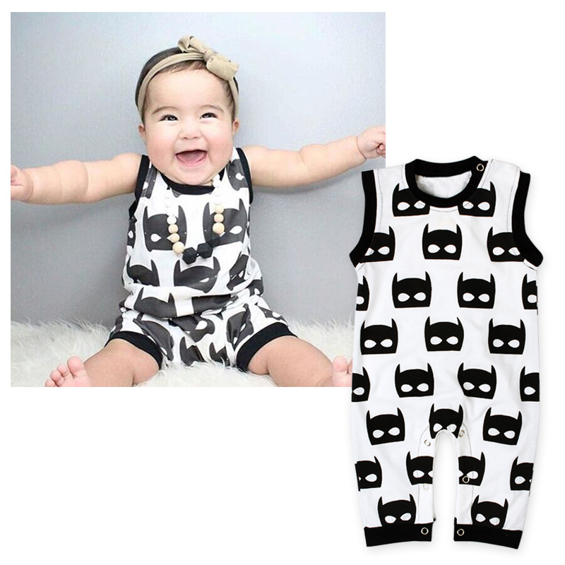 Foreign trade European and American baby childrens summer Jumpsuit Batman baby sleeveless Jumpsuit childrens clothes