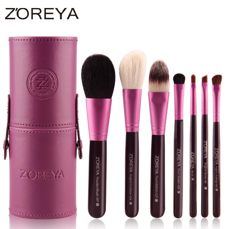 ZOREYA шерстяной костюм ствольное кисти макияж щетки для инструментов комфортабельные мягкие портативный профессиональный макияж для начинающих