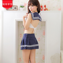 Bowknot schoolgirl sailor suit big yards reality game uniform lingerie suit extreme temptation