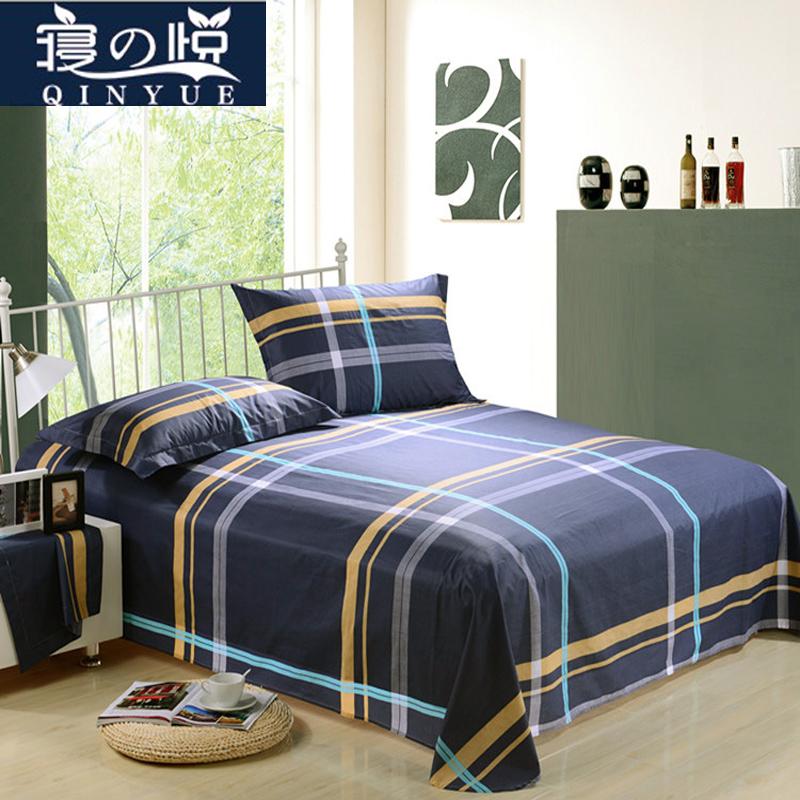 全棉床單單件1.2純棉被單學生宿舍床單枕套套1.5 1.8米單雙人床