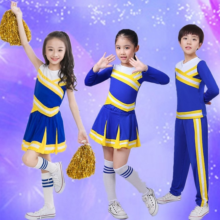 Childrens cheerleading performance clothing primary and secondary school sports meeting clothing group class clothing kindergarten long short sleeve performance clothing