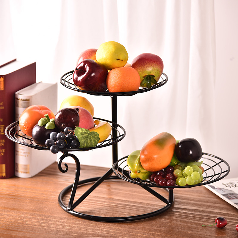 Living room fruit plate creative fruit basin home water fruit basket European style dry fruit plate multi-layer dessert table cake rack