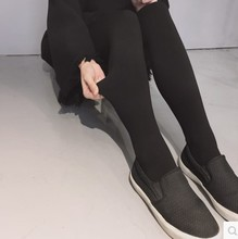好穿超显瘦新款的连裤袜加绒加厚超弹力连脚百搭万能打底袜黑