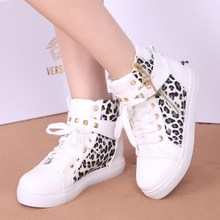 Han edition high tide boots for spring and summer shoes casual shoes with flat canvas round head single shoes lace-up shoes high school students