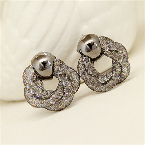 Boucles oreilles femme en Alliage / argent / plaqué or - Le Japon et la Corée du Sud - Ref 1113876 Image 1
